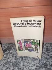 Das Große Testament Französisch-deutsch, von Francois Villon, aus dem dtv Verlag