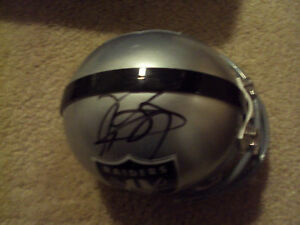 Tim Brown Signed Oakland Raiders Mini Helmet