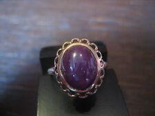eleganter 585er Rotgold Ring riesiger Rubin Cabochon 5,47 ct -1960-80