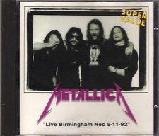 "METALLICA - RARO CD ITALY ONLY 1993 "" LIVE BIRMINGHAM 92 """