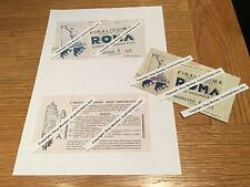 1934 WORLD CUP FINAL ITALY v CZECHOSLOVAKIA (COPY OF VERY RARE ORIGINAL TICKET)