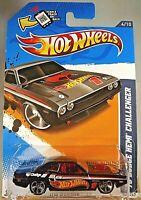 2012 Hot Wheels #174 HW Racing 4/10 '70 HEMI CUDA Black Variant w/Chrome MC5 Sp