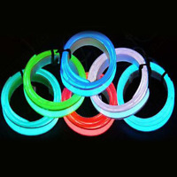 Car Home Party Neon Style LED Glow EL Wire String Strip Rope + 3/12V Controller