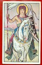 ART NOUVEAU MAN AND HORSE VINTAGE POSTCARD 590