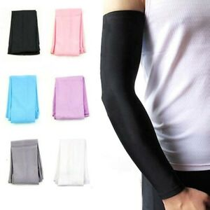Unisex  Arm Sleeve Cover Cooling Arm Sleeves Cycling Sports UV Sun Protection UK