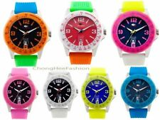 Silicone/Rubber Band Teen Unisex Wristwatches