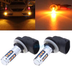 Amber 881 889 H27W/2 LED Fog Light Bulb Lamp 1600LM for Hyundai Elantra Accent