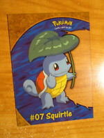 NM Pokemon SQUIRTLE #07 Card TOPPS SERIES-2 Set PC4 Chase-Clear Promo