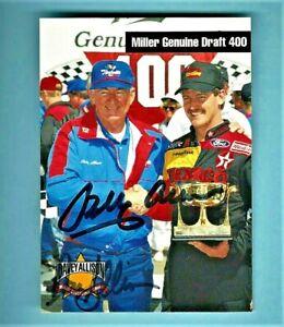 DAVEY ALLISON & BOBBY ALLISON - DUAL AUTOGRAPHED - 1993 Maxx Texaco #12    [f13]