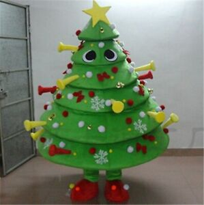Christmas Tree  Mascot Costume Cosplay Party Game Dress Outfit Halloween Adult