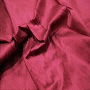 100% Silk Dupion Fabric 80 Colours! Sold as a Sample - Half Metre - Per Metre