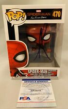 TOM HOLLAND SIGNED SPIDERMAN FAR FROM HOME UPGRADED SUIT FUNKO POP W/ PSA/DNA