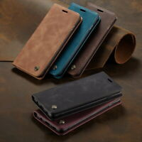 For Samsung S21 S20 S10 S9 S8 A50 A51 A71 Leather Case Card Pocket Wallet Cover