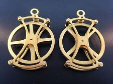 "Large fancy 2"" pulley for Seth Thomas and other weight driven clocks Set of 2"