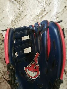 "WILSON T-BALL YOUTH BASEBALL GLOVE 10"" A02RB16CLE MLB CLEVELAND INDIANS"