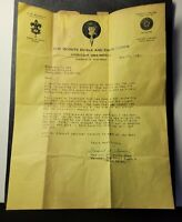 1931 Signed Letter DOCUMENT Boy Scouts MINSTREL SHOW Black HISTORY SHEBOYGAN WI