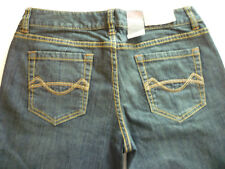 New Mossimo Supply Co womens 5 Long low rise boot cut dark denim blue jeans
