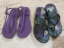 2 Authentic Havainas slippers high black color sandal all size9.REPRICED