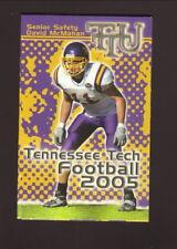 Tennessee Tech Golden Eagles--2005 Football & Volleyball Pocket Schedule