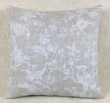 "John Lewis ""Botanica Bird"" Cushion Cover 16""x16""  Double Sided white on linen"