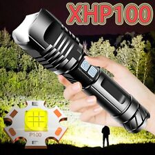XHP100 LED Flashlight Torch Powerful Tactical Flashlight Rechargeable Lantern