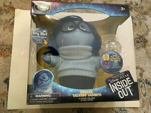 SADNESS Disney Pixar Inside Out Deluxe Talking Doll that lights up DIsney Store