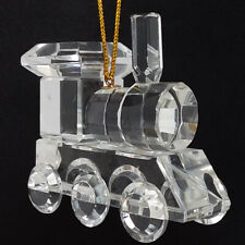 """Celebrations Crystal Clear 1-3/4"""" Reflection Train Hanging Ornament"""