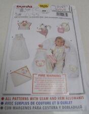 9635 Burda Infant Baby Accessories Sewing Pattern Bib Sleepsack UNCUT SZ 3- 18M