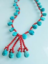 Coral necklace Turquoise and