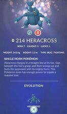 Heracross #214 ✔ Regional Pokemon Go ✔ 100% Quick & Safe