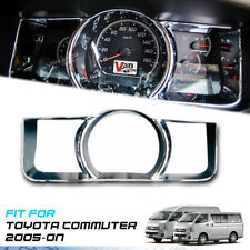 COVER DASH GAUGE CHROME TRIM FOR TOYOTA HIACE COMMUTER VAN SURROUNDS 2005-ON