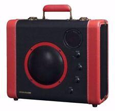 new CROSLEY CR8008A-BK Portable Soundbomb Bluetooth Speaker System Black & Red