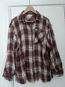 Topshop Size 10 Vintage Style  oversized Grunge Check Shirt