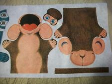 """Weekly Reader Funday Puppets Felt Panel Size Each Approx 7 1/2"""" Makes 3"""