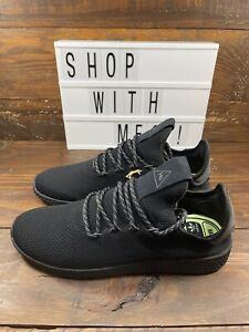 NEW Mens Adidas PW Tennis HU - Pharrell Williams TRIPLE Black GX2484
