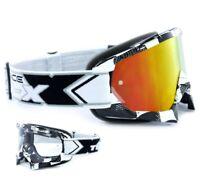 TWO-X Race Crossbrille MX Enduro Brille Factory Spiegelglas verspiegelt iridium