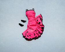Hot Pink Salsa Dance Party Dress w/ Black Polka Dots Genuine BARBIE Fashion