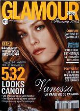 GLAMOUR 2005 (format pocket):VANESSA PARADIS_HELENE DE FOUGEROLLES