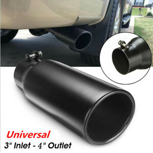 76.2-102mm Vehicle Auto Car Black Stainless Steel Exhaust Pipe Muffler Tip Tail