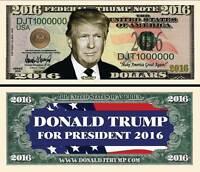 DONALD TRUMP BILLET MILLION DOLLAR US! Collection President Etats Unis Politique