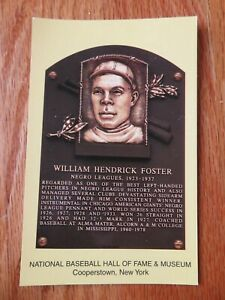 WILLIAM HENDRICK FOSTER Induction HALL OF FAME Plaque Aug 4 1996 CANCELED Stamp