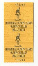 Orig.Ticket / Essensgutschein im Olympischen Dorf Olympische Spiele ATLANTA 1996