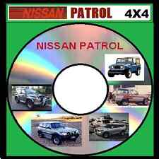 NISSAN PATROL G60 MQ GQ GR GU QX56 WORKSHOP REPAIR MANUAL CD