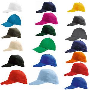 Baseball Cap With Classic Adjustable Fastner  Mens Ladies Sun Summer Hat