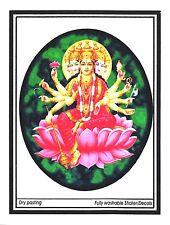 Traditional Large Gayatri Maa Paper Sticker– Hindu Religious Sticker