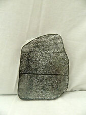 "Egyptian Black Resin Rosetta Stone Handmade 7"" X 5.5"""