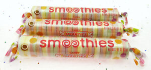 Smarties Smoothies ~ Giant Roll Extra Large Candy 2.25 oz ea ~ Lot of 3