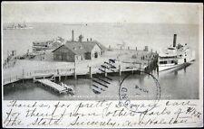 HAMPTON ROADS VA ~ 1906 GOVERNMENT WHARF ~ Ferry Ship  ~ Dock ~ Pier