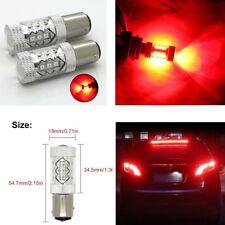2 X 1600 Lumens Red 1157 High Power LED Tail Brake Stop Light Bulbs BAY15D