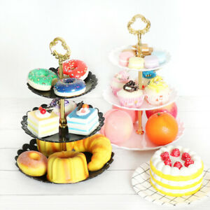 3 Tier Tool Wedding Food Fittings Cupcake Party Serving Fruit Cake Plate Stand